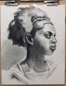 charcoal under drawing