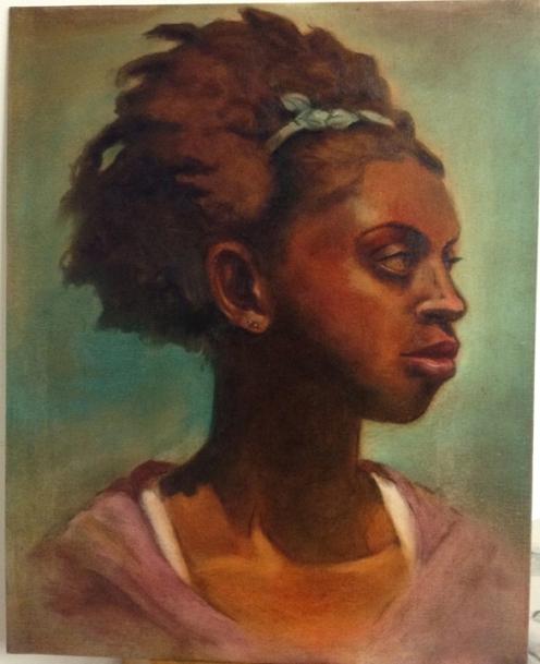 oil underpainting portrait