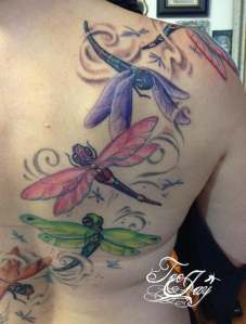 tattoo dragonflies