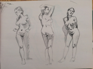 figure drawing female standing