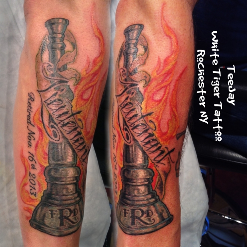 Lieutenant Bugle tattoo