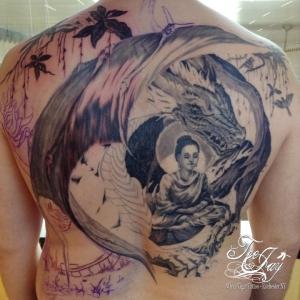 Buddha Backpiece tattoo
