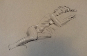 figure drawing female reclining