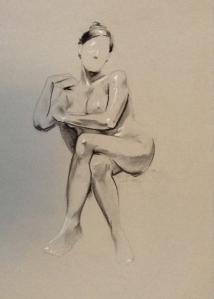 figure drawing female seated legs crossed