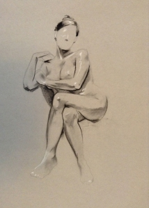 figure drawing female seated legs crossed