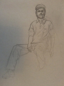 figure drawing clothed male sitting