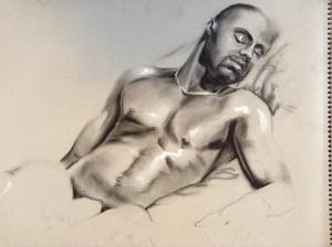 figure drawing male sleeping