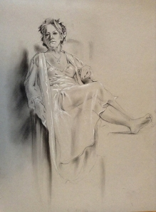 figure drawing female seated clothed