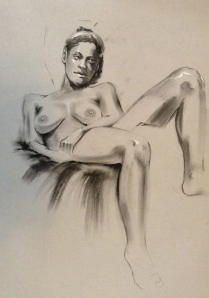 figure drawing woman in chair
