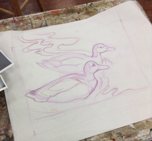drawing for duck painting