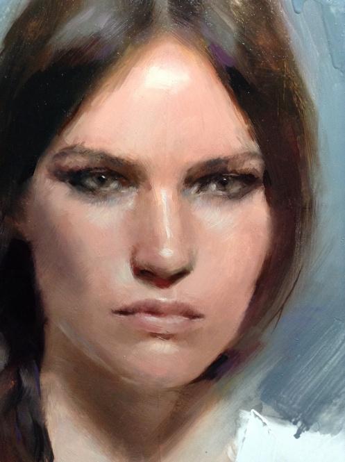 Casey Baugh portrait detail