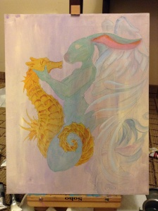 Siren and Seahorse in progress