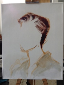 Life painting in progress