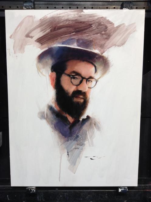 Casey Baugh portrait of Josh Wool