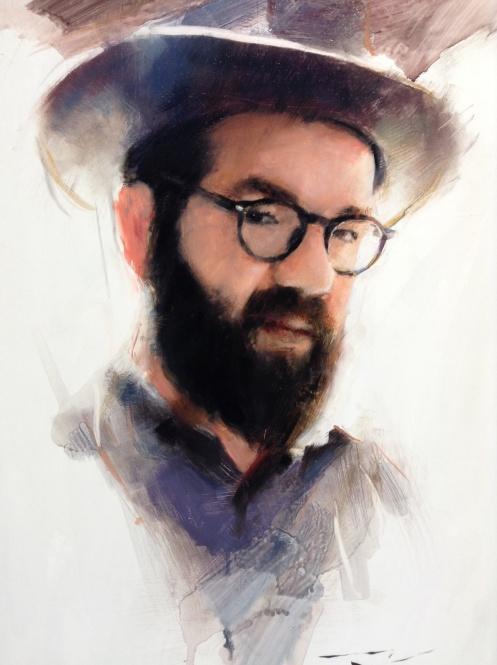 Portrait of Josh Wool detail