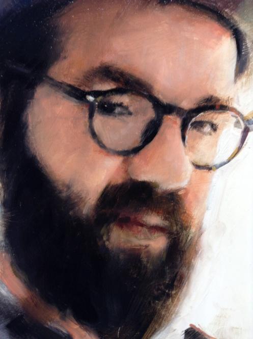 Casey Baugh portrait of Josh Wool detail