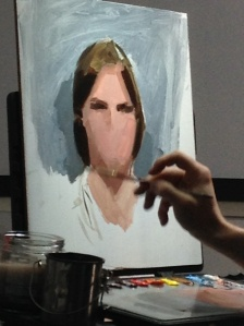 Casey Baugh painting in progress
