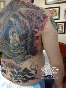 Buddha Naga tattoo
