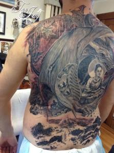 Buddha Bahamut tattoo
