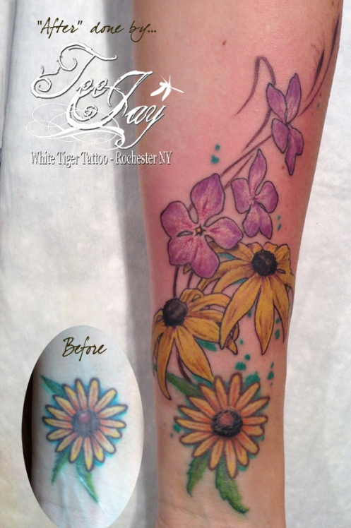 black eyed susan tattoo