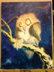 owl painting inprogress