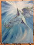 bird painting in progress