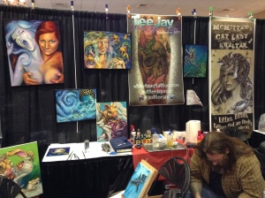 Booth in Asheville (Tattoo Expo)