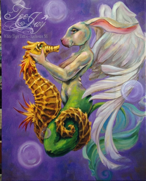 Siren and Seahorse
