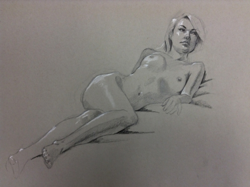 figure drawing reclining female