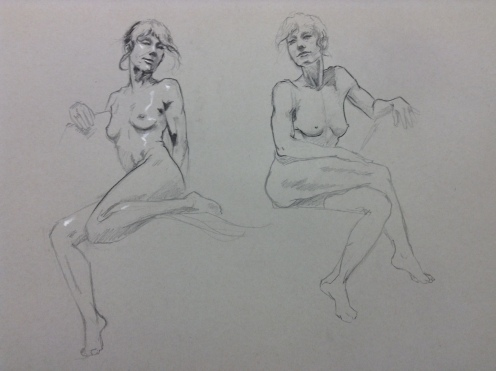 figure drawing seated female
