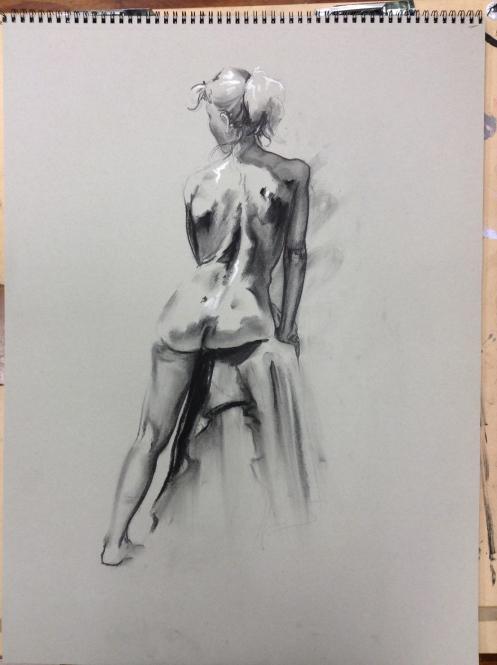 figure drawing woman's back