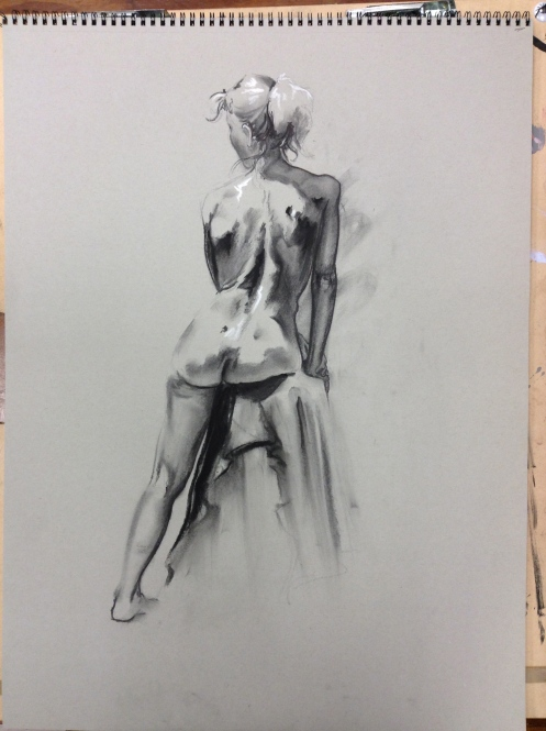 figure drawing woman's back