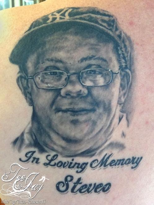 memorial tattoo portrait