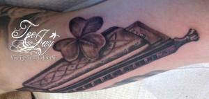 irish harmonica tattoo