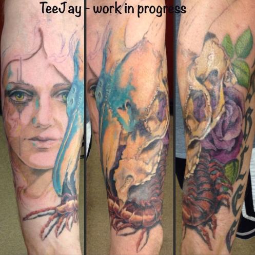 Progress on Frank's Arm tattoo