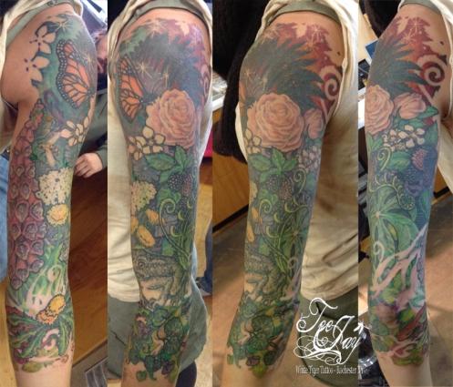 Garden sleeve tattoo - feminine