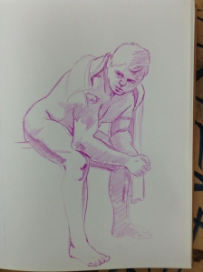figure drawing seated (boxer?) pose
