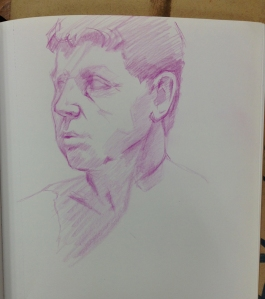 life drawing face