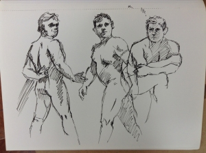 gesture drawing male standing