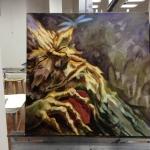 Woodland Spirit Painting in progress