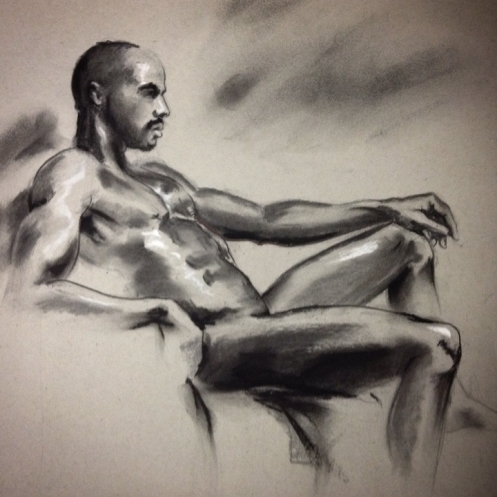 figure drawing seated male