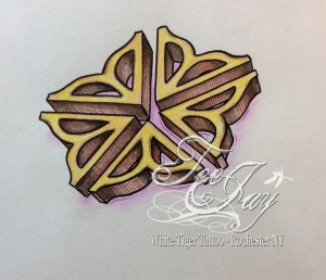 Rochester Flower 3d tattoo design