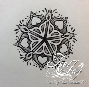 Rochester Flower Mandala tattoo design