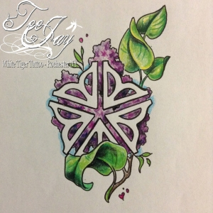Rochester Flower Lilac tattoo flash