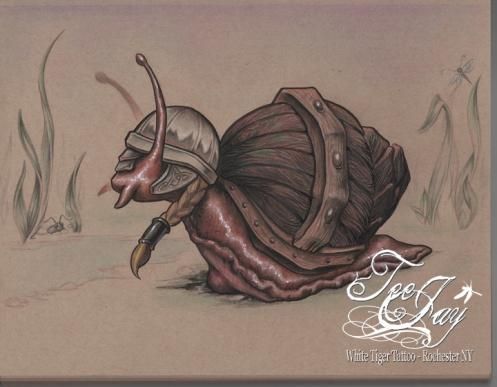 Explorer Snail Print