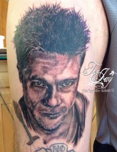 Tyler Durden portrait tattoo fresh