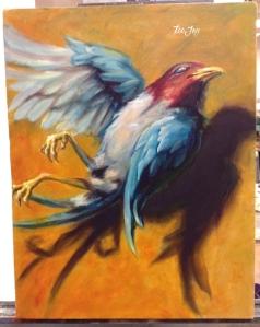dead bird painting