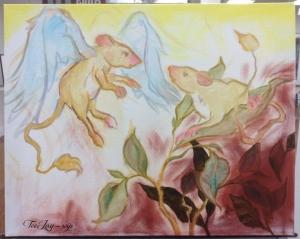 rat painting in progress