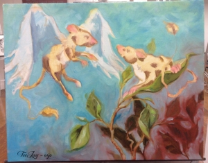 rat painting in progress