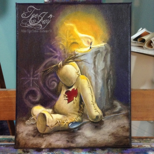 VooDoo Doll painting